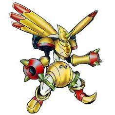 """Rapidmon- Terriermon golden armor Digivolution through the Digi-egg of """"Destiny"""""""