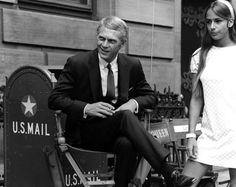 Boston 1968. Steve McQueen as Thomas Crown, on set.