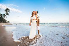Tarde incrível na presença da Taís e do Kleber na maravilhosa praia de Itacimirim.