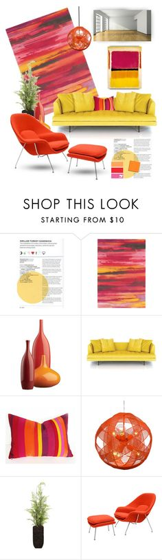 """""""Blank Slate"""" by youaresofashion ❤ liked on Polyvore featuring interior, interiors, interior design, home, home decor, interior decorating, Brink & Campman, CB2, Lux-Art Silks and womb"""
