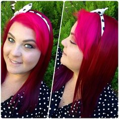 Just dyed my hiar with Manic Panic: Hot hot pink, Fuchsia Shock and Purple Haze and I love it!