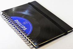 Adressbücher - NEU! Adressbuch mit Register aus Schallplatte  - ein Designerstück von Aurum bei DaWanda