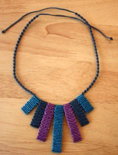 Macrame Necklace, working on something similar at the moment. Collar Macrame, Macrame Colar, Macrame Art, Macrame Necklace, Macrame Jewelry, Macrame Bracelets, Diy Necklace, Macrame Knots, Loom Bracelets