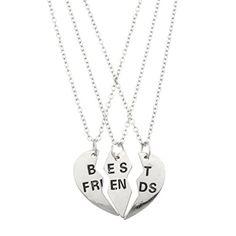 Lux Accessories Best Friends BFF Forever Valentine Heart 3 PC Necklace Set. Lux Accessories http://www.amazon.com/dp/B00Q5GXNLG/ref=cm_sw_r_pi_dp_Vadgvb1NAF3PX