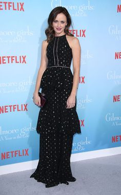 Alexis Bledel from The Big Picture: Today's Hot Pics  The actress strikes a pose in a stunning black gown at the Gilmore Girls: A Year in the Life premiere in Los Angeles.