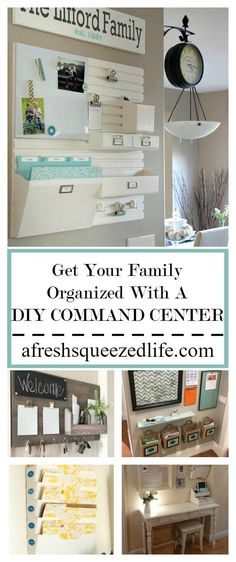 With the school year approaching I find myself wanting to organize everything! Let me show you how to get your family organized with a DIY command center! GET YOUR FAMILY ORGANIZED WITH A DIY COMMAND CENTER