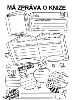 list do čtenářského sesitu School Hacks, School Projects, Class Displays, Numbers For Kids, Montessori Education, Dream Book, School Humor, Card Reading, Teaching Tips