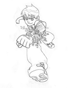 Ben 10 Coloring Page