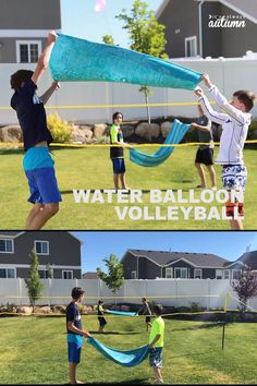 Water balloon volleyball is the perfect summer water game for parties, reunions, or youth groups! Easy to play and so much fun. Water balloon volleyball is the perfect summer water game for parties, reunions, or youth groups! Easy to play and so much fun. Youth Games, Youth Activities, Activity Games, Summer Activities, Relay Games, Water Activities, Party Activities, Activity Ideas, Youth Group Crafts