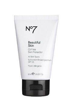 """""""Sunscreens are always lying and saying they're oil-free, and the result is that I end up looking like a disgusting, pasty, shiny blobfish. On the other hand, most sunscreen-moisturizer combos don't offer the level of SPF I want. This Boots No.7 product is great, though. I use it as a moisturizer, and it's truly oil-free. It makes your skin feel super soft, and look nice and matte, too. """" — Lexi Nisita, social media director"""