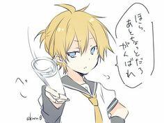 Kagamine Len | @kuroi0 Kaito, Vocaloid Len, Me Adora, Anime Art, Awesome Anime, Boku No Hero Academia, Anime Guys, Anime Characters, Lens