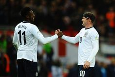 Danny Welbeck and Wayne Rooney both in England's World Cup squad