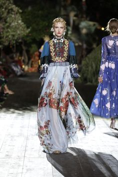 Dolce & Gabbana Fall/Winter 2015-2016 Fashion Show--Folkwear is a big inspiration in fashion right now.