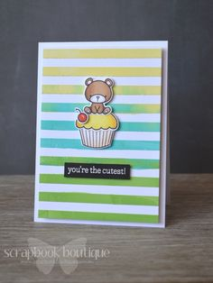 Lostinpaper: The Cutest Cupcake! Multi-coloured Embossing Paste.
