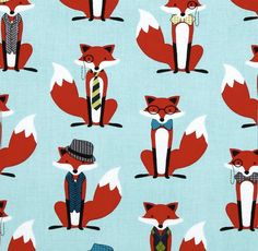 Changing Pad Cover - Dapper Foxes in Auqa / Contoured Changing Pad Cover / Aqua Red Nursery Bedding by Babiease on Etsy https://www.etsy.com/listing/100232085/changing-pad-cover-dapper-foxes-in-auqa