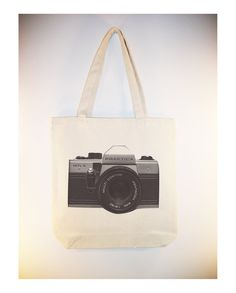 Vintage Praktica Camera on 15x15 canvas tote by Whimsybags, $12.00