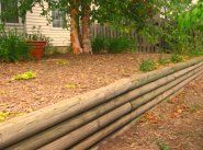 Easy Wood Retaining Wall or Railroad Tie Retaining Wall