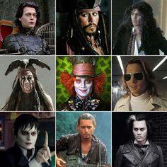 The man of many faces turns 51 today. Who's your favorite Johnny Depp character? John Depp, Here's Johnny, Johnny Depp Movies, Many Faces, Pirates Of The Caribbean, Movie Characters, Best Actor, Movies Showing, Movie Stars