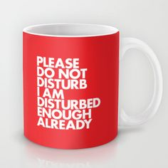 PLEASE DO NOT DISTURB I AM DISTURBED ENOUGH ALREADY Mug