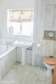 Thrifty DIY bathroom renovation - A beach hut inspired interior design project