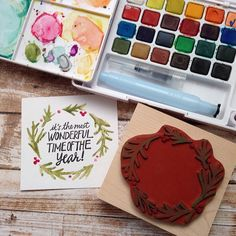 Watercolor right on the rubber and then stamp! It's a fun look.