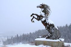 Daphne Mennell's (collaborating w/Roger Poole) Metal Horse. Whitehorse, Yukon