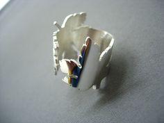 Etsy の silver leaf ring by michaelLionel