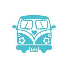 70er Bus  Velour Aufbügler 24Farben 223 von HeartyFrog auf Etsy, kr31.00