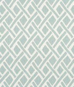 Portfolio Treads Lagoona Fabric - by the Yard Blue Pillows, Linen Pillows, Custom Pillows, Pillow Fabric, Cushion Fabric, Fabric Patterns, Print Patterns, Modern Cushions, Rod Pocket Curtains