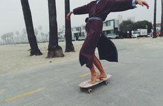 in a #kimono? Yeah, OK. Note to Self: Get kimono, go #SK8! :D