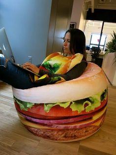 Hamburger Bean Bag