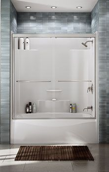 One piece tub showerFINALLY  It s been so difficult to find an attractive one piece  . One Piece Tub Shower Enclosure. Home Design Ideas