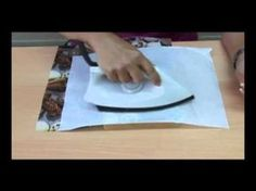 Técnica decoupage PLANCHA - Mujeres 365 - YouTube