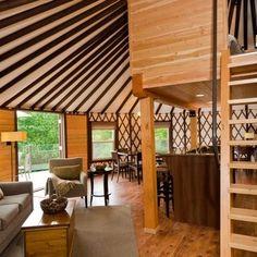 malibu yurt retreat on organic farm | yurt interiors | pinterest