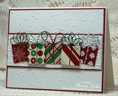 1 inch gifts _ Stamping with Klass. Really nice cards on this blog.