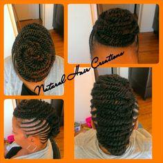 Kinky twists updo natural hair
