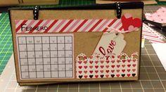 Claudiy Crafts: Tutorial DIY: Calendario de escritorio material re...