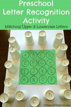 letter matching activity for center time