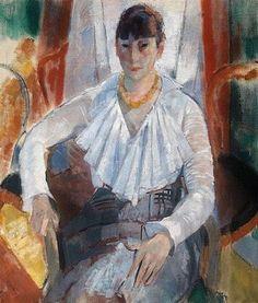 Rik Wouters. Belgian Fauvist Painter, Sculptor (1882 - 1916) - Woman in White ( 1915)