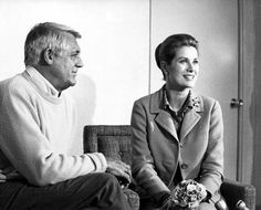 Cary Grant and Grace Kelly.