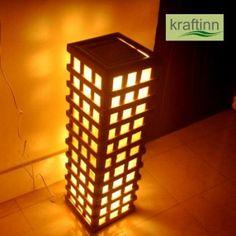 Bamboo Jute Lamp from KraftInn