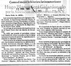 Galardón a Hugo Blanco. Publicado el 15 de marzo de 1981.