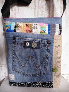 I like the fabric and denim combination
