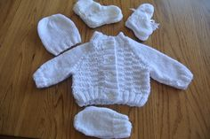 New Born Knitted Outfit