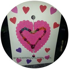 Card making with kids, valentines day