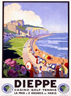 Vintage France Travel Posters Gallery 2 - Artwork: Suzanne Hulot