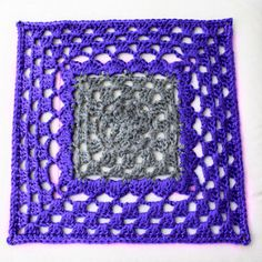 Ravelry: Two-Tone Square pattern by Dayna Audirsch