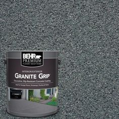 Azul Diamond Decorative Flat Interior/Exterior Concrete Floor - The Home Depot - BEHR Premium Granite Grip is a unique decorative, slip-resistant, drivable concrete floor coating.