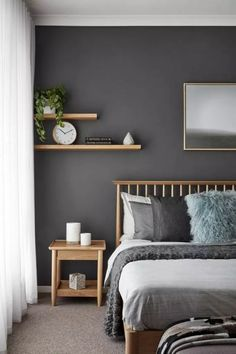 Beautiful Bedroom Color Schemes Ideas #bedroomideas #bedroomcolourschemesideas » aesthetecurator.com