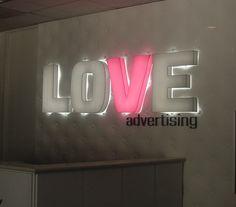 Full acrylic backlit lobby sign